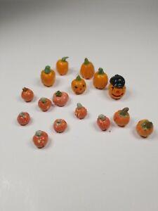 Dollhouse-Miniature-Handmade-Clay-Pumpkin-Fall-Halloween-Melons
