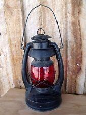 VTG RR?  Oil Lamp Red Globe Blue Grass Air Pilot Belknap Hdw