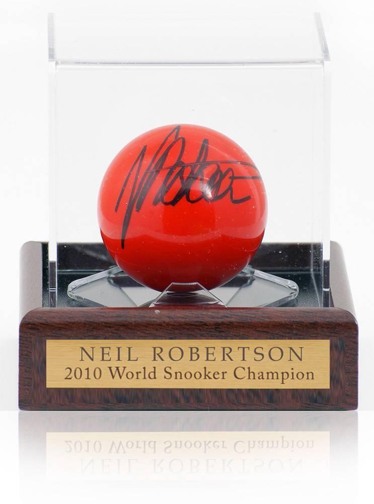 Rouge Snooker hand Ball signé par Neil Robertson AFTAL photo preuve COA