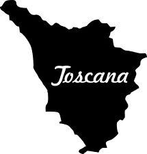 "2x Auto Aufkleber Italien Region "" TOSKANA "" 11x10 cm Car Sticker"