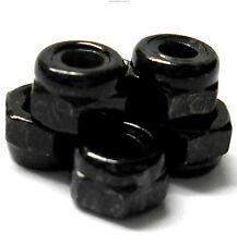 BS903-093 M4 4mm 1/10 Scale RC Wheel Nylon Lock Nuts x 6 Black