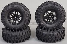 Gmade 1/10 SCALE TRUCK RIMS 1.9 BEADLOCK WHEELS W/ 110MM Gmade Tires (4PCS)