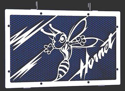 """Cache / Grille De Radiateur Inox Poli 600 Hornet 07>14 """"frelon V2"""" + Grill.bleu Tekorten"""