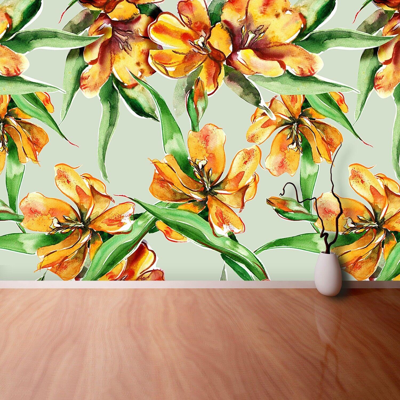 Fototapete Selbstklebend Einfach ablösbar Mehrfach klebbar Tulpen Blaumen