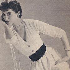 Vintage Knitting PATTERN to make Baby Shrug Shoulderette Sweater BabyShrug