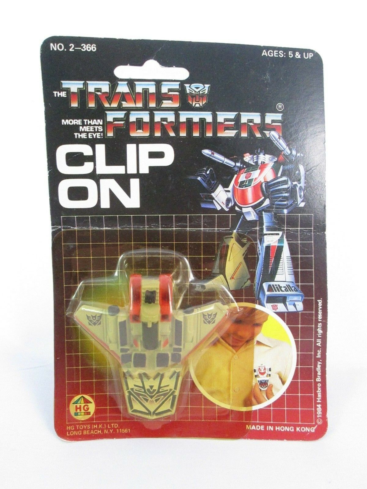 Vintage THE TRANSFORMERS Clip On Starscream - Sealed