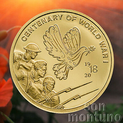 70 YEARS OF PEACE IN EUROPE 2015 Cook Islands 1//2 gram 24K GOLD PROOF COIN