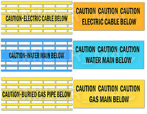 Caution Water Gas Electric Below Tape Detectamesh Cable
