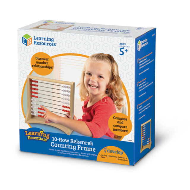 Learning Resources Learning Essentials 10-Row Rekenrek Counting Frame NEW