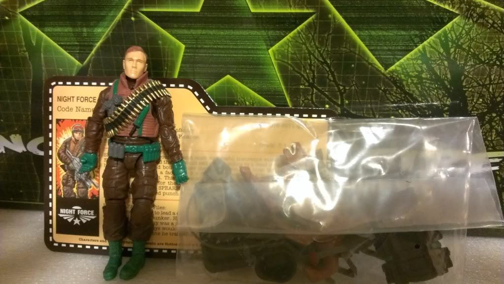 GI Joe Convention 2013 JoeCon Nocturnal Fire Night Force Spearhead & Max LOOSE