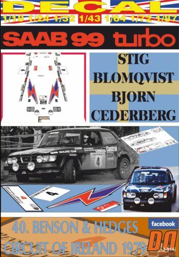 DECAL SAAB 99 TURBO S.BLOMQVIST C.OF IRELAND 1979 6th 02
