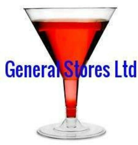200ml GSL 10 x LARGE CLEAR PLASTIC PARTY MARTINI MOCKTAIL WINE  GLASSES