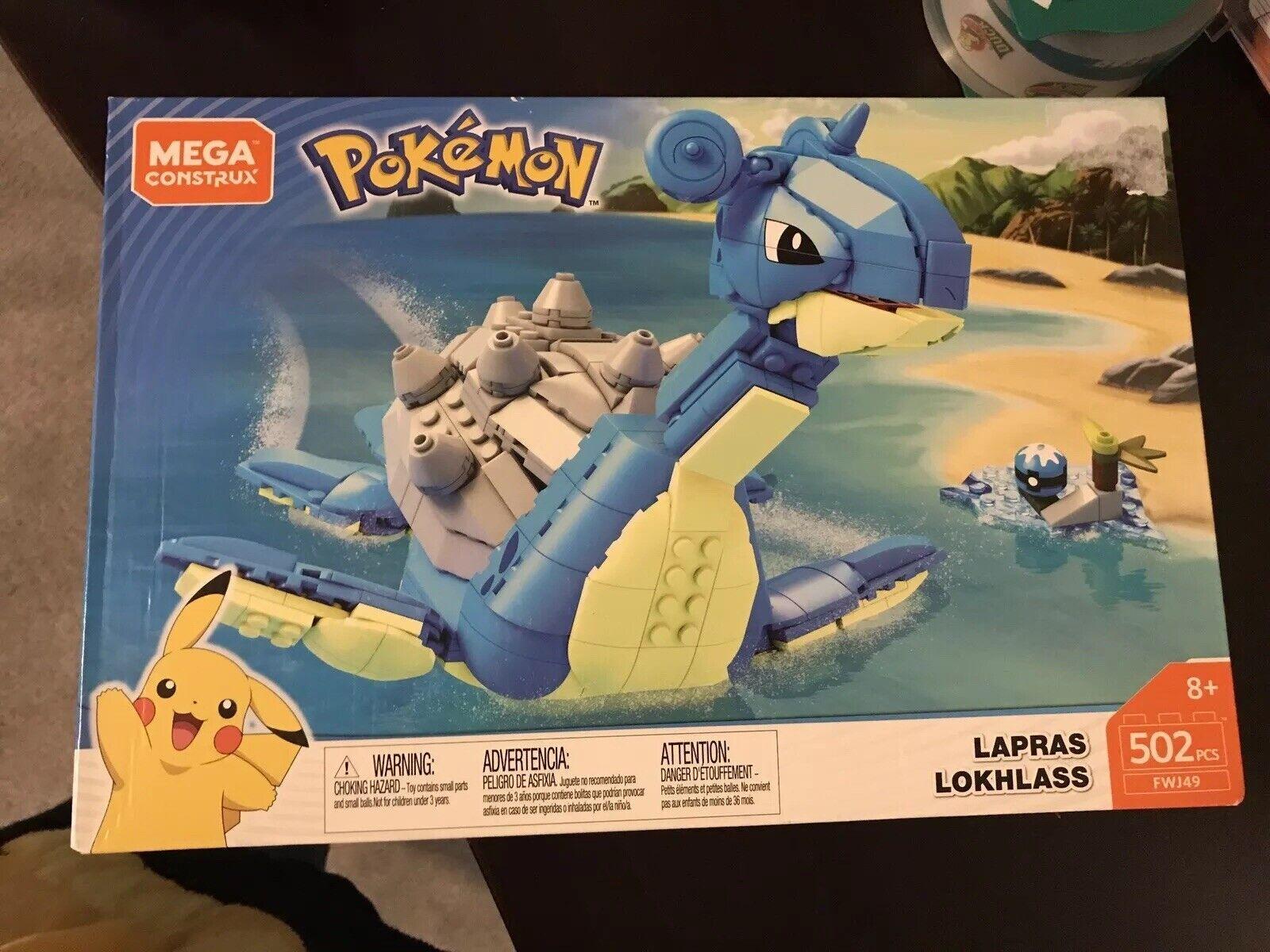 Pokemon Mega Construx Lapras Rare GameStop Exclusive Factory Sealed