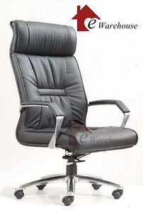 New-Executive-Premium-PU-Faux-Leather-Office-Computer-Chair-in-Black
