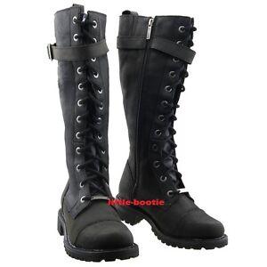 Harley-Davidson-Boots-Stiefel-Leder-schwarz-Damen-Gr-38-39-40-41-81489-Savannah