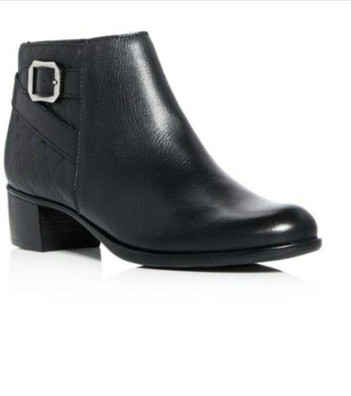 NEW Munro Jolynn American ‑ Black Quilted Quilted Quilted Leather Bootie Women's Size 8 (M)  224 7ba826