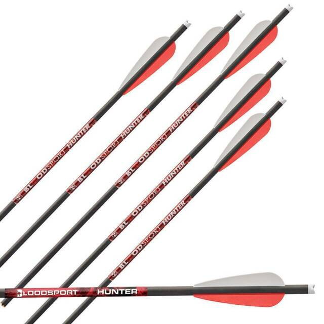 """aubes 18 Pack 31/"""" loose Inserts environ 5.08 cm Bloodsport Hunter 400 flèches avec 2 in"""