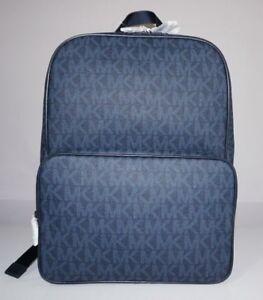 Michael-Kors-Men-039-s-Jet-Set-Signature-Logo-Baltic-Blue-Backpack