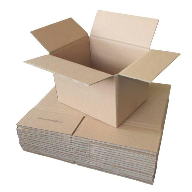 20 x Cardboard Boxes 280x220x200mm Brown Packaging Carton Mailing Box Strong