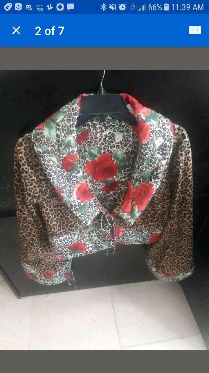 SALE   SIMBA FAUX LEOPARD PRINT WITH pinkS  SIZE L