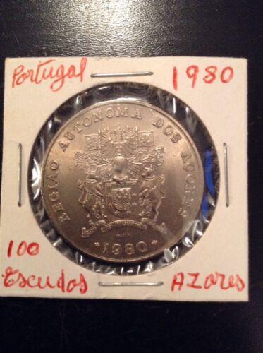 1980 /& 1986 100 Escudos Regiao Autonoma Dos Açores Portugal
