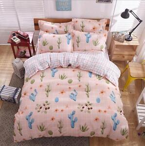 image is loading cactus plaid quilt cover duvet cover set pillowcase - Cactus Bedding