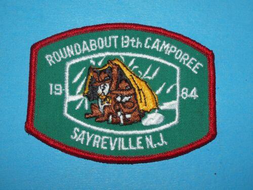1984 ROUNDABOUT 13th CAMPOREE PATCH  SAYREVILLE NJ  BOY SCOUTS 7844