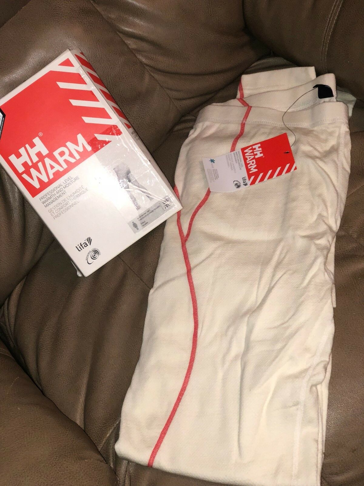 Helly Hansen Women's HH Warm Pant, White Snow Print, Size XXL NEW