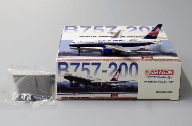 "North American B757  "" BUSH CHENEY2000 "" Reg: N750UA Dragon Wings 1:400 55450"