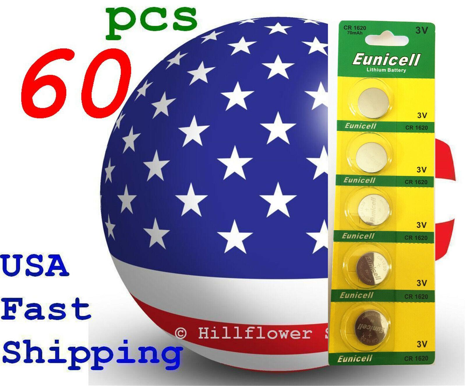 60 pcs CR1620 1620 BR1620 LM1620 Card 3V High Quality Lithium Battery