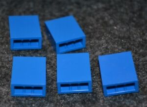 5 ~ 1x8 Dark Blue Smooth Finnishing Tile Bricks Brick ~  New Lego Parts ~