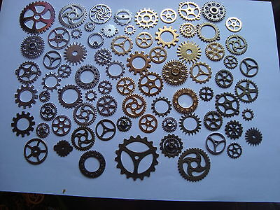 20 Metal Tibetan Silver Steampunk Cogs and Gears Charm Pendant 25mm TSC