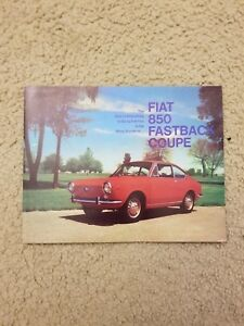 FIAT 124 Sport Coupe Fold Out Dealer Sales Brochure