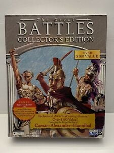 NEW!! The Great Battles Collector's Edition Windows 95 CD-ROM PC Big Box Game