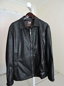cbfbc7accc244 Giseido 100% Polyurethane Black Fully Zippered Lined Jacket - Size - 2XL
