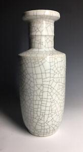 Chinese-Stoneware-Crackle-White-Glazed-Ge-Style-Vase