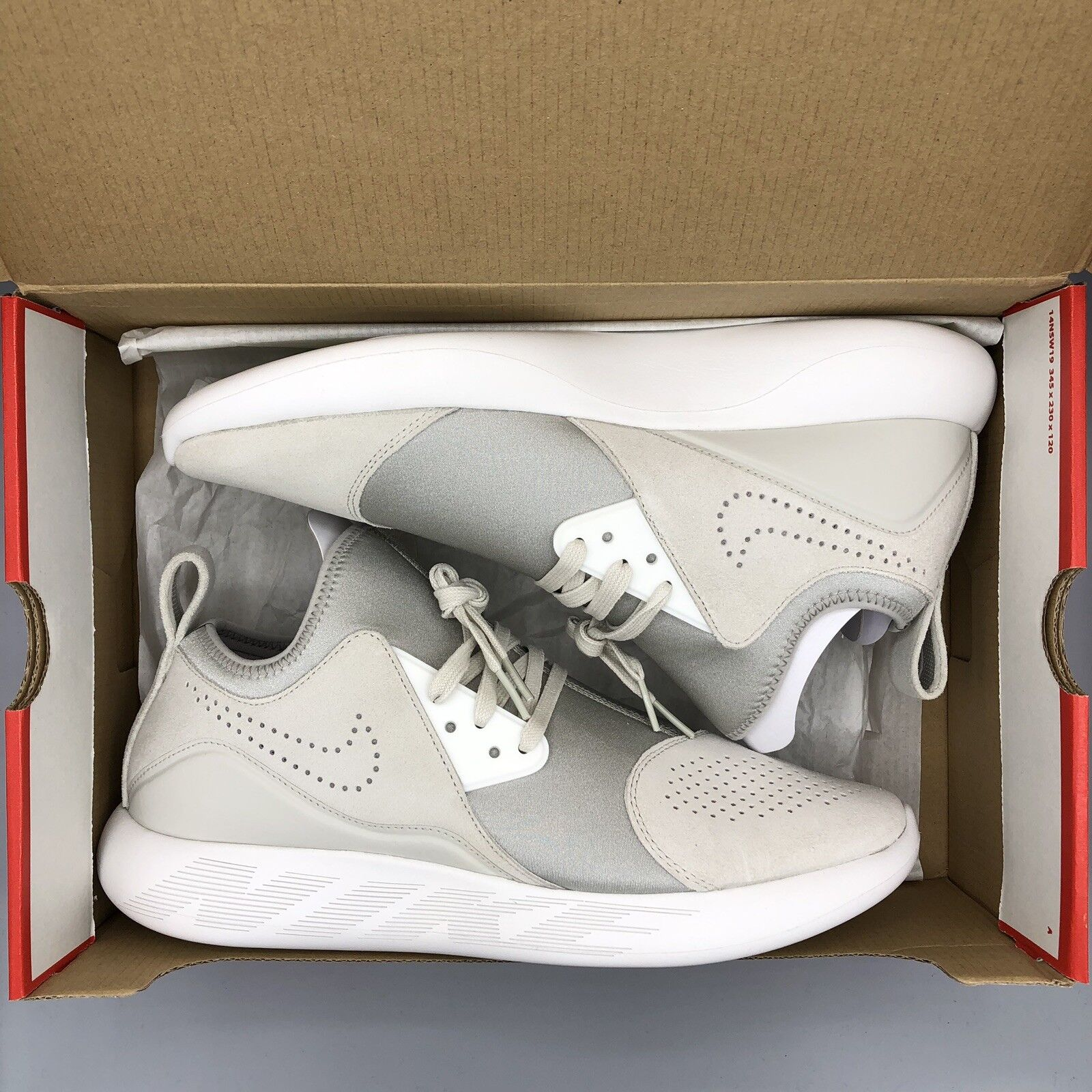 50aeb21eb5 NIKE LUNARCHARGE 923281-002 LIGHT SUMMIT WHITE SIZE 12 Max PREMIUM ...