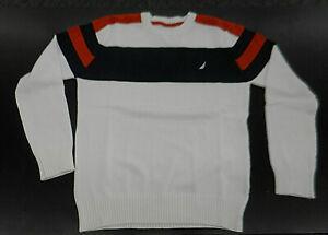 Boys $44.50 Nautica LS V-Neck Coral Sweater Size 10//12