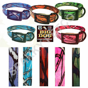 """Heavy Duty Dog Fence 1"""" Camo Biothane Big Dog Replacement Straps- 5 New Colors"""