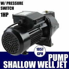 Shallow Well Jet Pump With Pressure Switch 1 Hp 110v Surface Water Pump Ip44