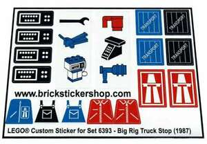 Lego-Custom-Pre-Cut-Sticker-for-Classic-Town-Traffic-6393-Big-Rig-Truck-Stop