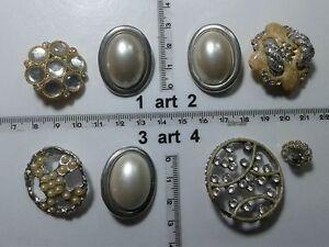 1-lotto-bottoni-gioiello-strass-smalti-perle-vetro-buttons-boutons-vintage-g12