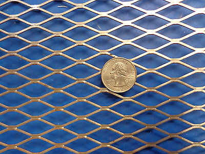 "1pc Expanded Metal Sheet Diamond Pattern .036"" x 7"" x 20"" ->1/2""-#20 Expanded"