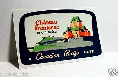 Chateau Frontenac Quebec Canada Vintage Style Travel Decal / Vinyl Sticker