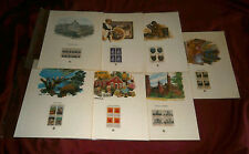 7 US COMMEMORATIVE STAMP PANELS IN PLASTIC SLEEVES. MINT CONDITION.