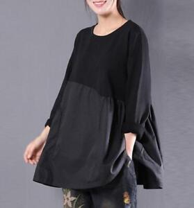 Womens-Loose-Cotton-Linen-Crew-Neck-Long-Sleeve-T-shirts-Tops-Blouse-Haihk