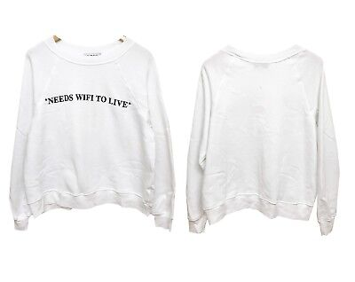 NEW WILDFOX COUTURE VINTAGE PARDON MY FRENCH SOMMERS SWEATER TOP SWEATSHIRT