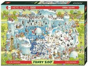 MARINO DEGANO - FUNKY ZOO : POLAR HABITAT - Heye Puzzle 29692 - 1000 Pcs.