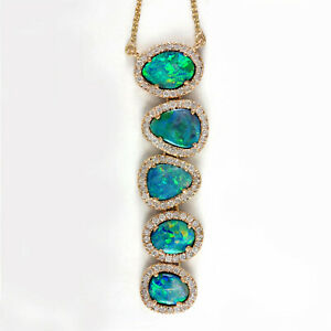 Opal-Long-Pendant-Necklace-14K-Yellow-Gold-Diamond-Pave-Wedding-Jewelry-Fine
