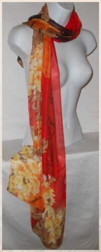 015 Scarves,Wraps,Chiffon,Floral,Red,Purple,Aqua...Silky Chiffon Florals Scarf